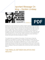 My Most Important Message on Divine Healing Gordon Lindsay