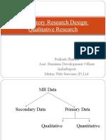 Exploratory Research Design