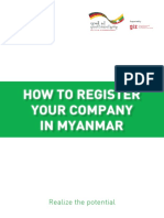 How to Register Your Company in Myanmar