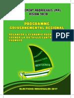 Programme Electoral MR