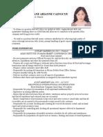 Heliane Arianne Caranto Resume.doc