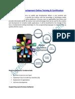 Get Online Training on Mobile App Development Course