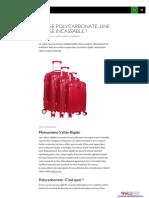 Valise Polycarbonate, Une Valise Incassable