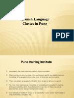 spanish Language Classes - institutes in Pune    Pune Training Institute
