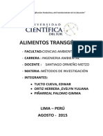 Monografia Sobre Alimentos Transgenicos