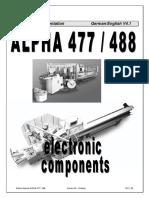 Elektro Manual ALPHA 477 488 D E