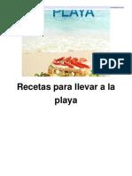 Recetas Para Llevar a La Playa