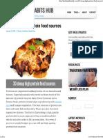 30 Protien Foods