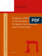 Robert Hayward Targums and the Transmission of Scripture Into Judaism and Christianity