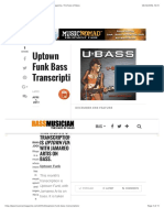 Uptown Funk Bass Transcription - Bass Musician Magazine, The Face of Bass