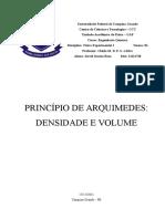 Relatório 10 - Princípio de Arquimedes - Densidade e Volume