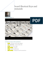 A to Z Keyboard Shortcut Keys and System Commands