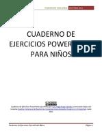 Cuaderno de Ejercicios Powerpoint Para Ninos