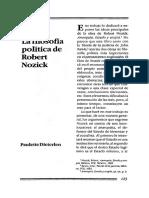 La Filosofia Politica De Robert Nozick