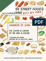 Brochure Journée Street Food Coréenne