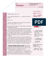 Temple Tidings Newsletter July 2010
