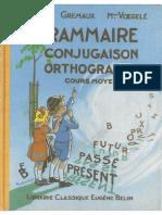 Grammaire Conjugaison Orthographe Cours Moyen Berthou Gremaud