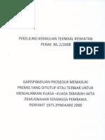 Pekeliling Kemajuan Teknikal Kesihatan Perak Bil 2 2008