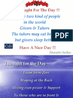 Daily Inspirational Thoughts - Spoken English & Personality Development - CDI Lucknow