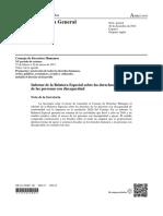 Informe Relatora Especial Personas con Discapacidad ONU