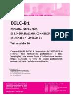 Ail Dilc-b1 Test Modello 10