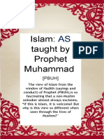Islam as Taught by Prophet Muhammad (Pbuh)