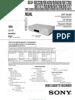 slvse220 sony service manual