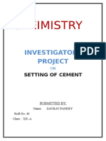 SETTING OF CEMENT