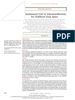 A Randomized Trial of Adenotonsillectomy