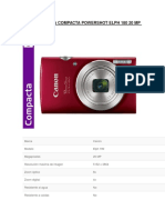 Canon Camara Compacta Powershot Elph 180 20 Mp 8x