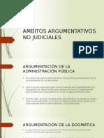 Ámbitos Argumentativos No Judiciales