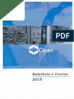 Relatório e Contas CIPAN 2015
