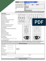 Peace Corps MTG 540 Attach F Assault Medical Exam Form (Head) | Medical Evidence