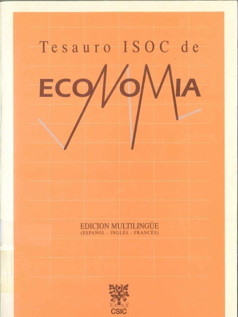 Tesauro de Economía