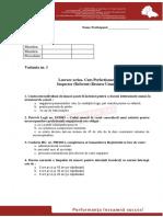 Test Varianta 1 New Profesional Consult - IRU