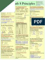 Math 8 Principles Study Sheet