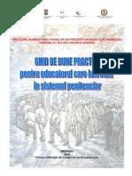 Ghid de Bune Practici Pentru Educatorul Care Lucrează În Sistemul Penitenciar
