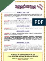Programación Cultural  Julio 2010