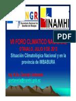 SITUACION CLIMATOLOGICA. INAMHI