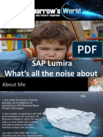 Sap Lumira Whats All the Noise About Scn