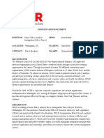 Senior Policy Analyst Immigration Policy Project