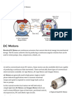 DC Motors and Stepper Motors Used as Actuators