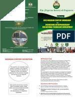 Nigerian Content Workshop