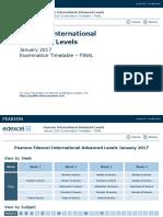 IAL Timetable January 2017 Final
