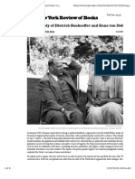 Tragedy o f Dietrich Bonhoeffer and Hans Von Dohnanyi