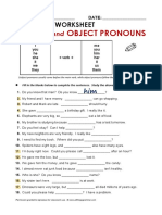 Exercise Object pronoun