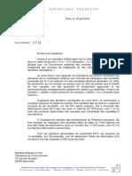 Lettre de François Logerot à Marine Le Pen