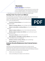 Hacking for Dummies - Cheatsheet