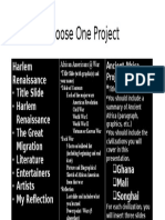 choose one project