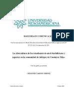 La cibercultura de los estudiantes de nivel bachillerato y superior en la comunidad de Jaltepec de Candayoc Mixe.